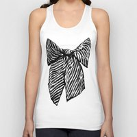 bow Tank Tops featuring Bow by Samantha Turnbull