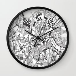 mandalas Wall Clock
