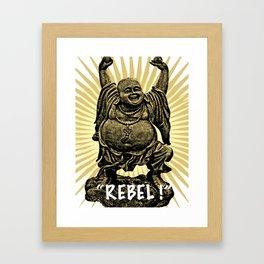 Rebel Buddha Framed Art Print