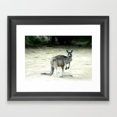 Big Grey Framed Art Print