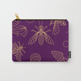 Crystal Bees - lineart Carry-All Pouch