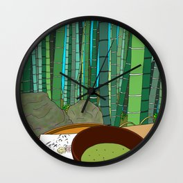 Bamboo Temple in Japan Wall Clock