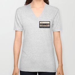 Retro 80's objects - Compact Cassette Unisex V-Neck