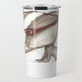 NORDIC ANIMAL - BENITO THE  BADGER / ORIGINAL DANISH DESIGN bykazandholly  Travel Mug