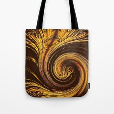 Golden Filigree Germination Tote Bag