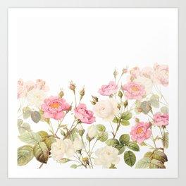 Vintage & Shabby Chic - Sepia Roses Flower Garden Kunstdrucke