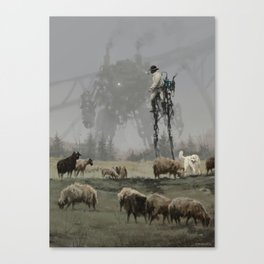 1920 - shepherd Canvas Print