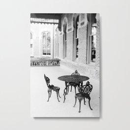 Sit Awhile Metal Print