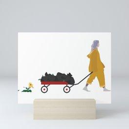 Billie Eilish Bellyache Mini Art Print