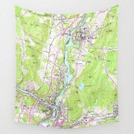 Vintage Lebanon & Hanover New Hampshire Map (1959) Wall Tapestry