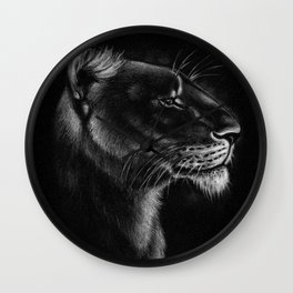 Proud Lioness Wall Clock