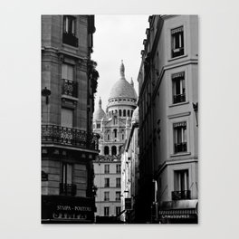 Sacre Coeur desde Pigalle Canvas Print