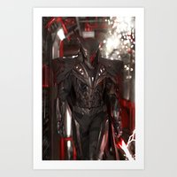 dark side Art Prints featuring Dark Side by Jiyu-Kaze™