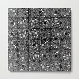 Serious Circuitry Metal Print