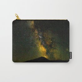 Beautiful Yellow Milky way Galaxy At Night Stars Sky Landscape Photography Carry-All Pouch