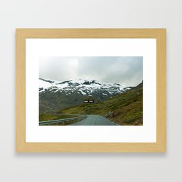 Cabin in the Mountains (Norway) Framed Art Print