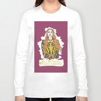 lannister Long Sleeve T-shirts featuring Cersei by JessicaJaneIllustration
