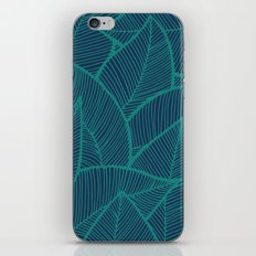 Blue Green Leaves iPhone & iPod Skin