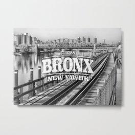 Bronx New York 'New Yawhk' Est. 1788 Metal Print