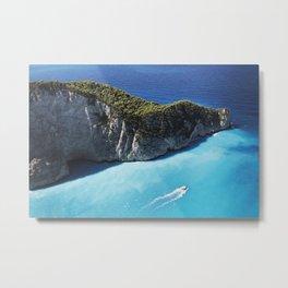 Zakynthos Island, Navagio Beach bay Metal Print
