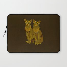 Steampunk Oriental Shorthaired Cats Laptop Sleeve