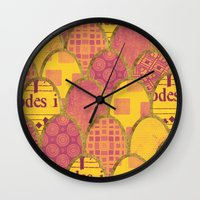 scales Wall Clocks featuring Scales by Sweet Colors Gallery