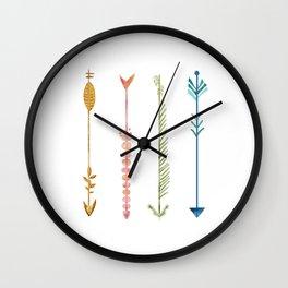 Follow the arrows Wall Clock
