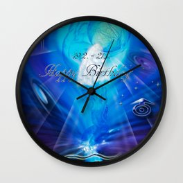 Zodiac sign Aquarius  Happy Birthday 3 Wall Clock