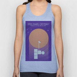 2001 Mars Odyssey science art poster. Unisex Tank Top