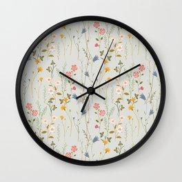 Midsummer Flowers Wall Clock