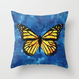 Monarch Butterfly Digital Painting Throw Pillow