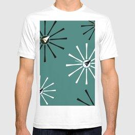 Fifties Kitchen Pattern Emerald T-shirt