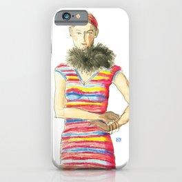 Striped Dress iPhone Case