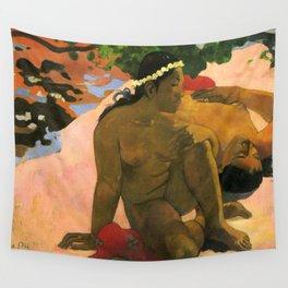 "Paul Gauguin ""Aha Oe Feii? (Eh quoi! Tu es jaloux?)"" Wall Tapestry"