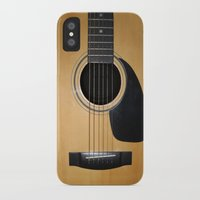 guitar iPhone & iPod Cases featuring Guitar by Nicklas Gustafsson