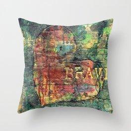 Permission Series: Brave Throw Pillow