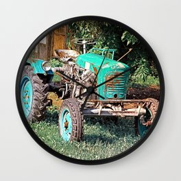 Old traditional Lindner tractor | conceptual photography Wall Clock