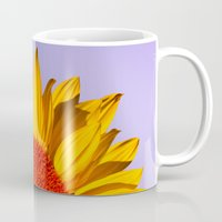 sunflowers Mugs featuring sunflowers by mark ashkenazi