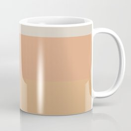 Soothing Earth Tone Stripes Minimalist Pattern in Rust, Terracotta, Millennial Pink, and Apricot Coffee Mug