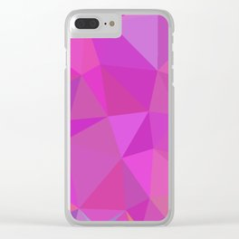 Pink Purple and Blue Polygonal Design Abstract Triangular Clear iPhone Case