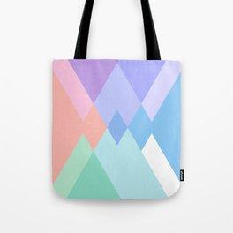 Geometric Pattern in Soft Hues Tote Bag