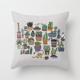 Succulent Party Throw Pillow