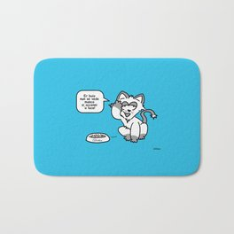 the wise cat - light and darkness Bath Mat