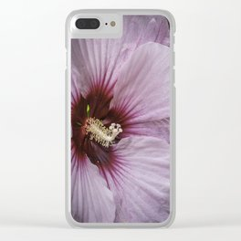 Saucer Hibiscus Clear iPhone Case