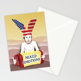 Mixed emotions Stationery Cards