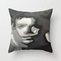 captain Throw Pillows featuring Captain! by Taylor Perren