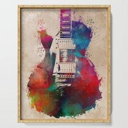 guitar art #guitar Serving Tray