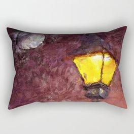 Lamp And Moon Rectangular Pillow