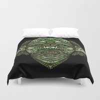jedi Duvet Covers featuring Aztec Jedi master Yoda iPhone 4 4s 5 5c 6, pillow case, mugs and tshirt by Greenlight8