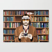 tenenbaum Canvas Prints featuring Richie Tenenbaum by The Art Warriors